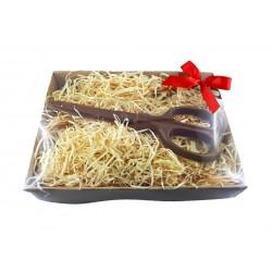 Schere aus Schokolade